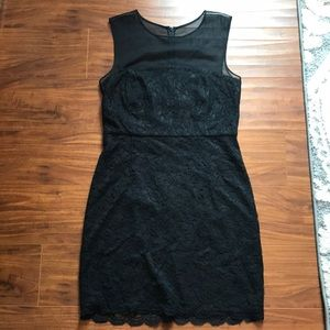 Diane von Furstenberg size 12 black lace dress